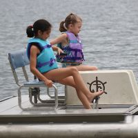 Children paddle boating at Pine Ridge